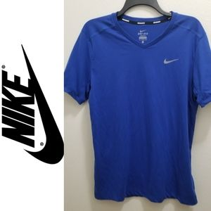 NIKE DRI-FIT Blue V-Neck Top